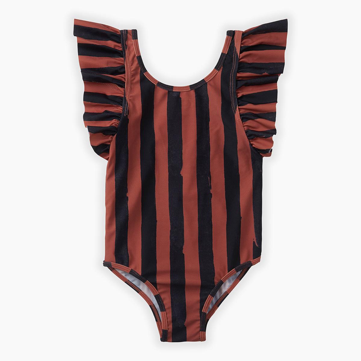 Swimsuit 'painted stripe'-1