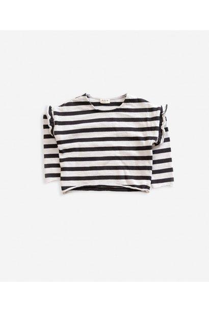 Striped jersey sweater