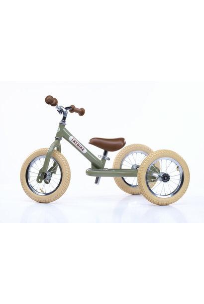 Drie wieler 2 in 1, vintage groen