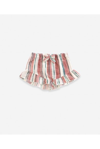 Printed woven broek