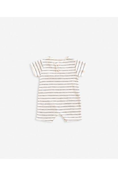 Striped rib jumpsuit