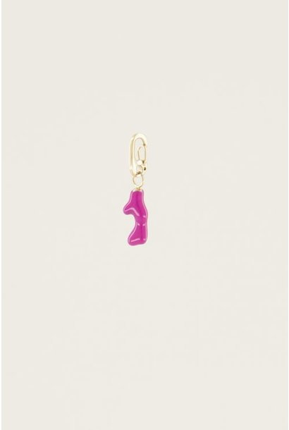 Moments charm fuchsia coral goud