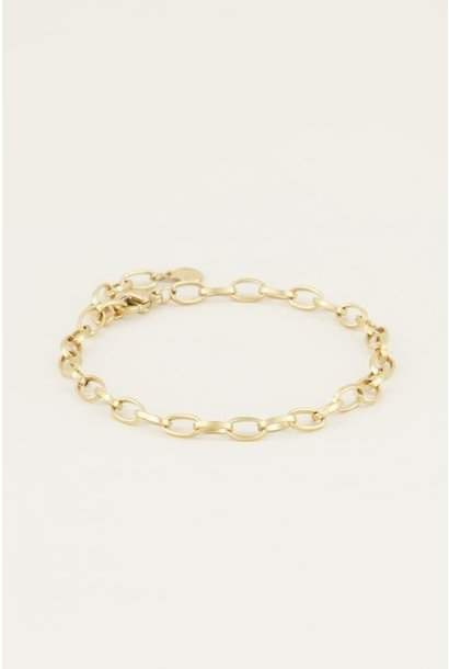 Moments bracelet small goud