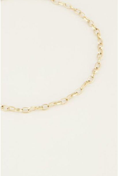 Moments necklace small links goud
