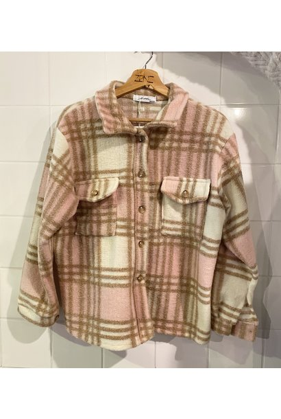 Jacket ruit roze