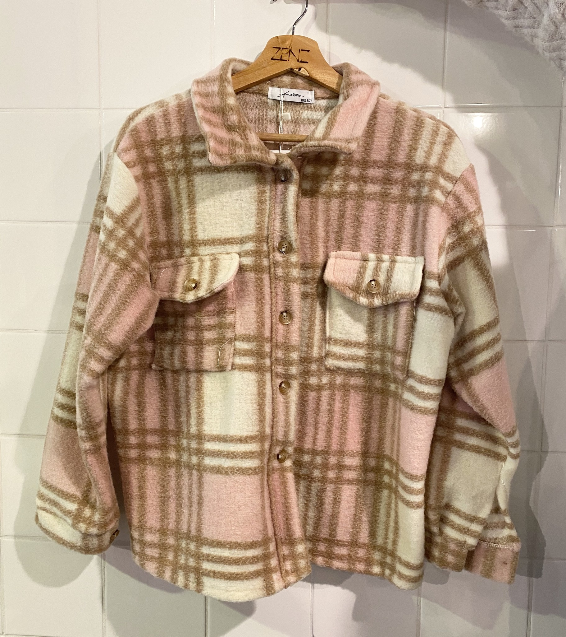 Jacket ruit roze-1