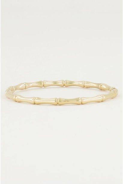 Bangle bamboo goud