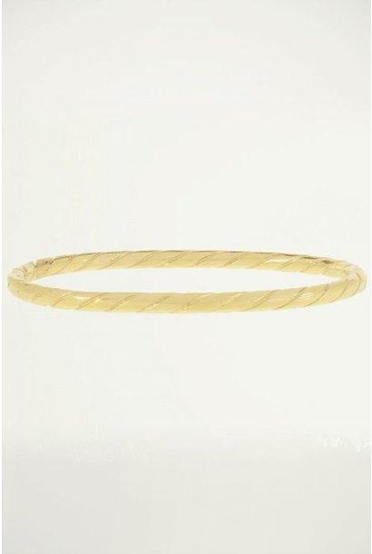 Bangle touw patroon goud