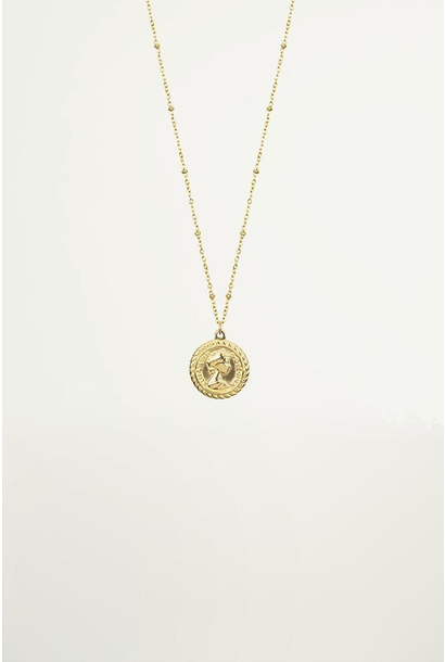 Necklace coin goud