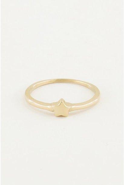 Ring sterretje goud