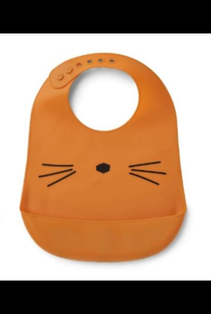 Siliconen slabber cat mosterd