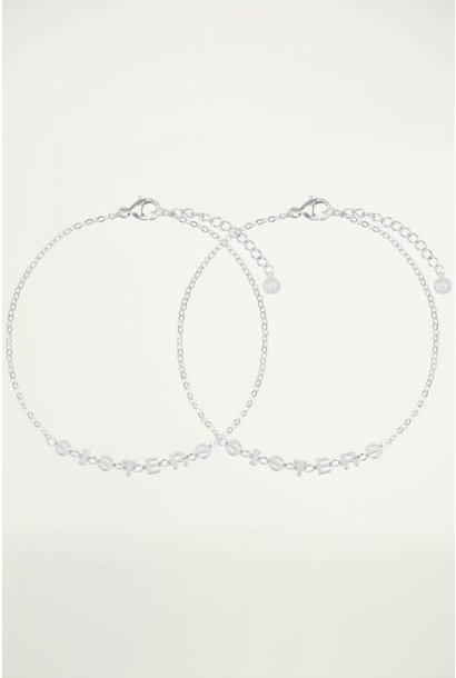 Armband sisters zilver