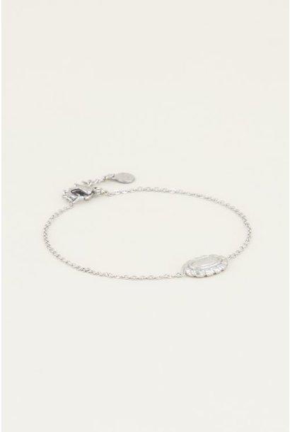 Moments bracelet vintage roze zilver