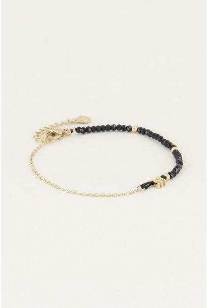 Kralen armband initial H