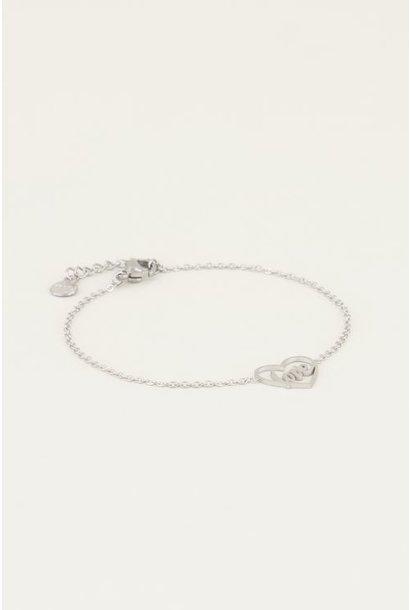 Moments bracelet love zilver