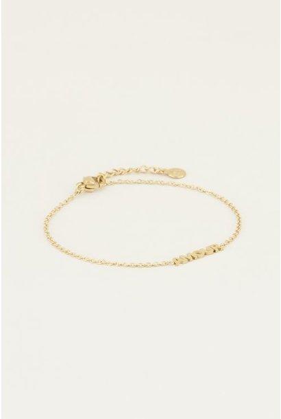 Moments bracelet amour goud