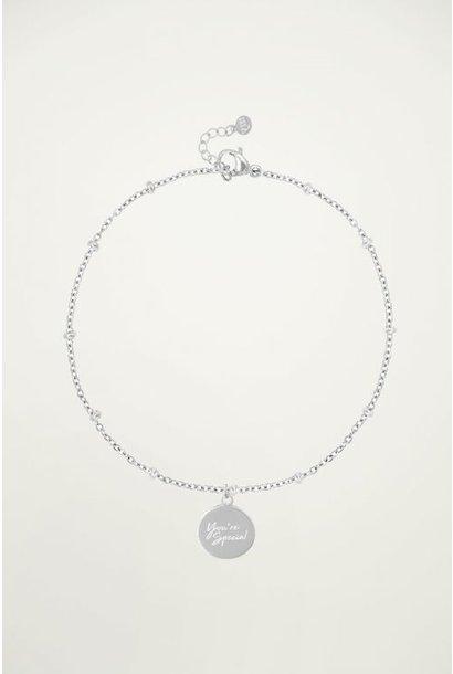 Bracelet you're special zilver
