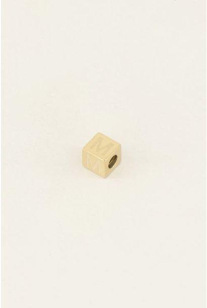 Cubes bedel initiaal goudkleurig letter M