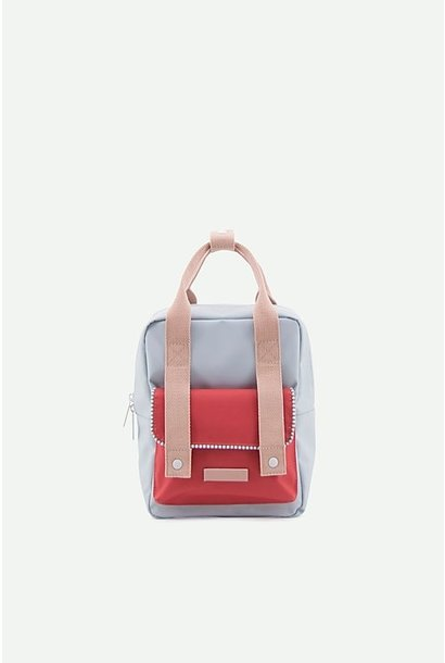 Backpack envelope Lichtblauw-rood