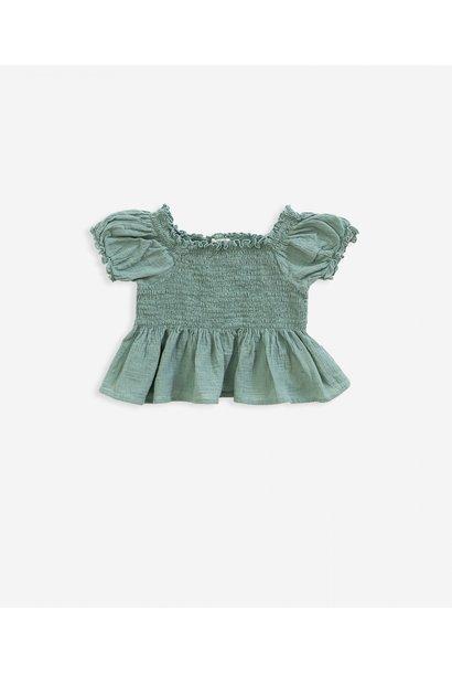 Katoenen gebreide blouse met elastiek