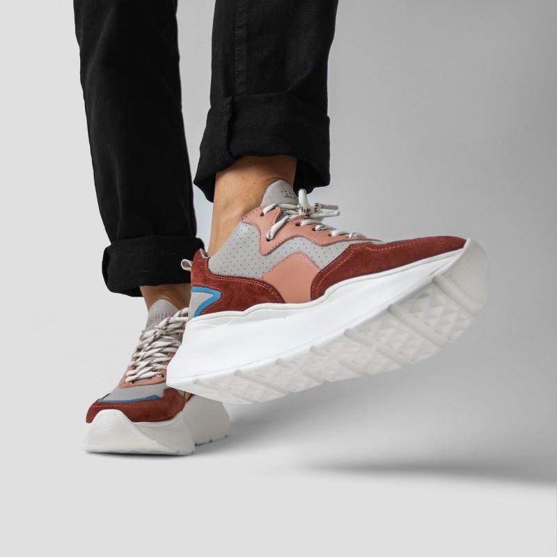 Sneaker Grayson Deep Rust/Pink-6