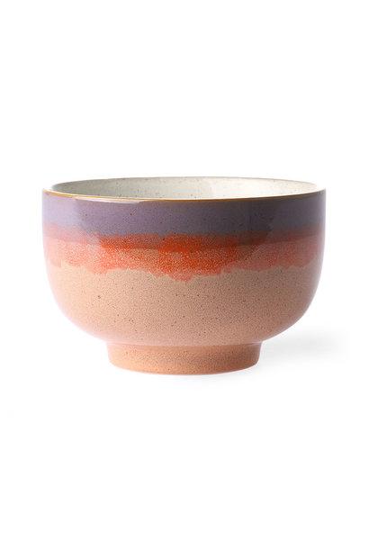 Ceramic 70's bowl large: Sunset
