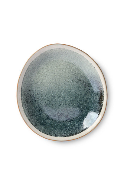 Ceramic 70's side plate: mist