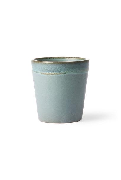 Ceramic 70's mug: moss