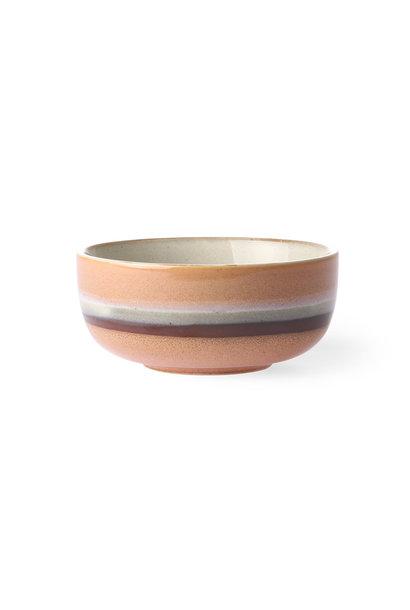 Ceramic 70's bowl medium: stream