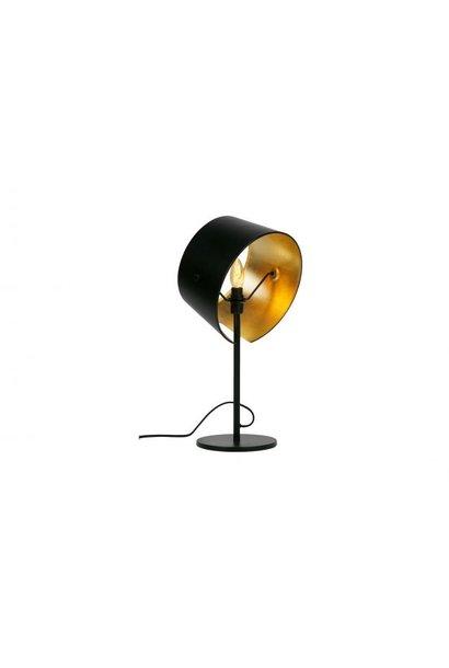 Pien tafellamp metaal zwart set van 2