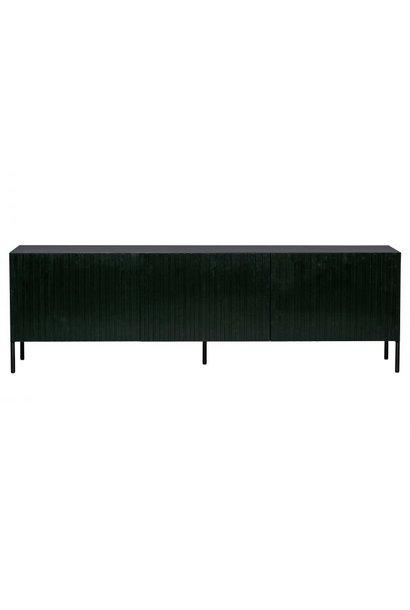 Gravure tv meubel grenen zwart