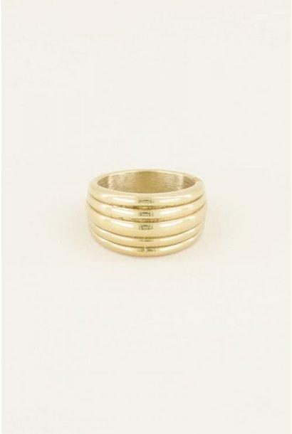 Ring met laagjes goud