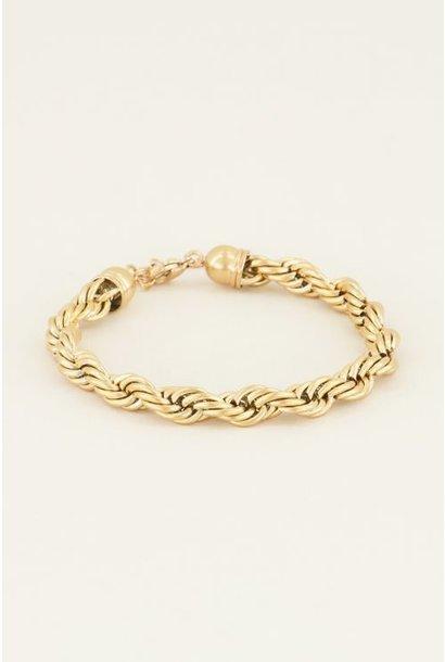 Armband gedraaide schakels goud