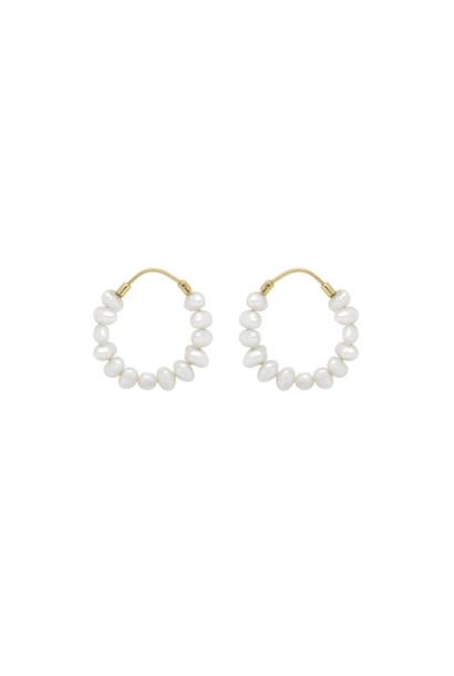Pearl ring earrings silver goldplated