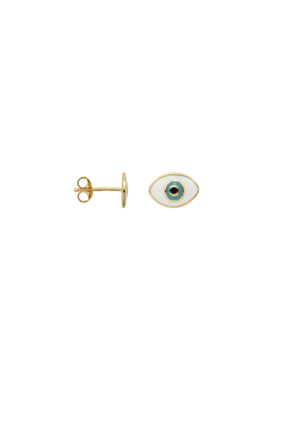 Single eye stud silver goldplated