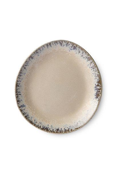 Ceramic 70's side plate: bark