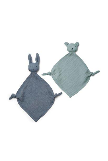 Yoko mini cuddle cloth -2 pack Blue mix