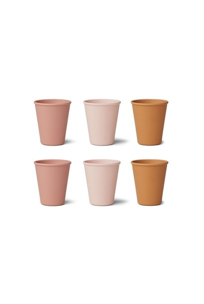 Getrud bamboo cup - 6 pack Rose multi mix