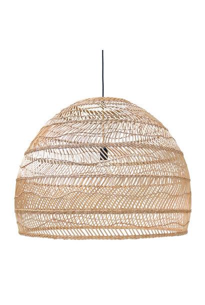 Wicker hanging lamp ball natural l
