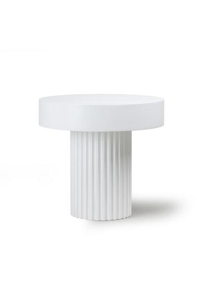 Pillar tafel rond wit