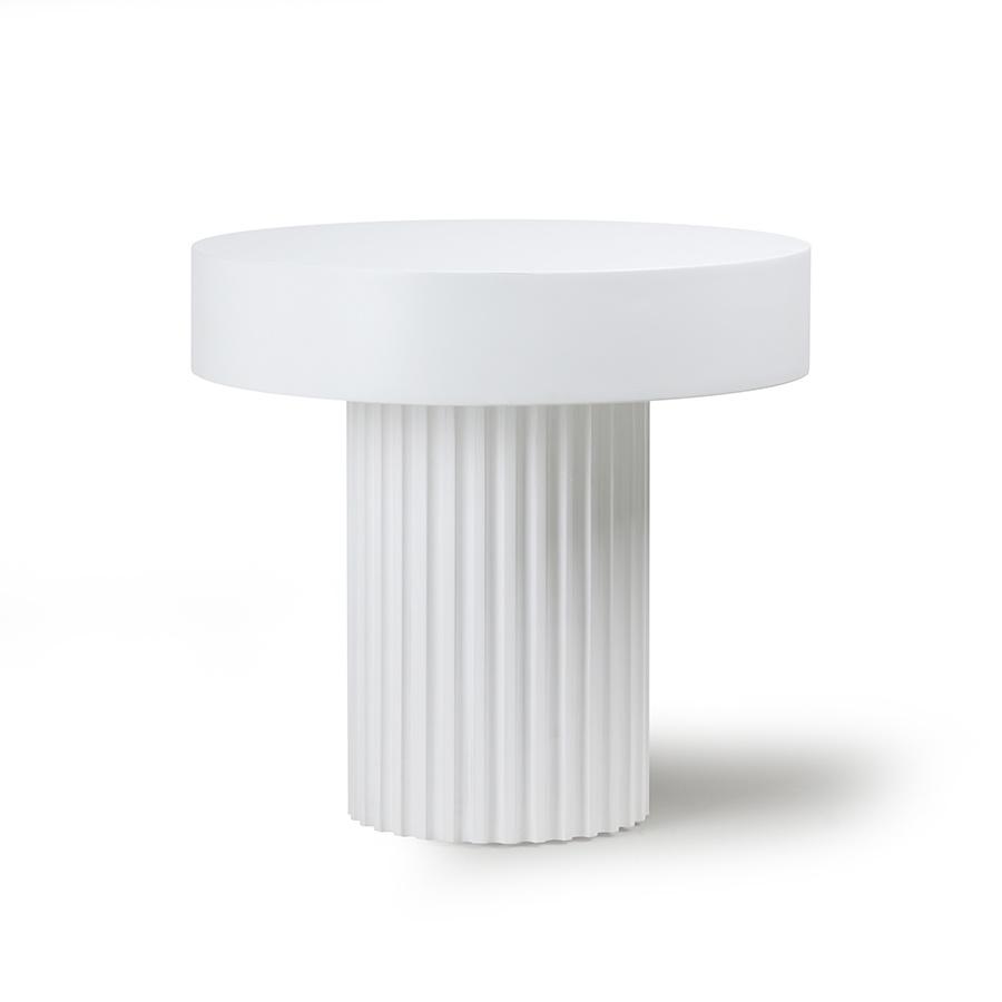 Pillar tafel rond wit-1