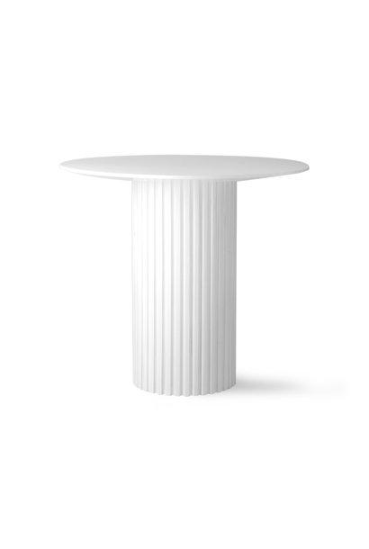 pillar bijzettafel wit