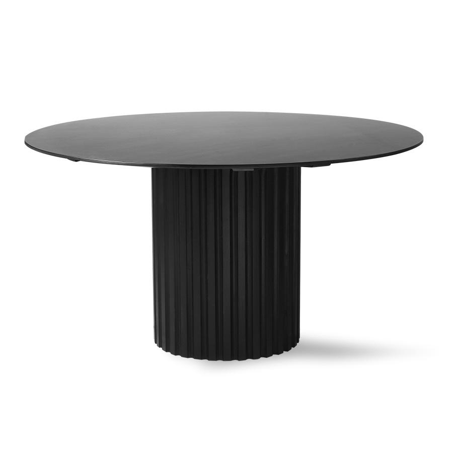pillar dining table round black-1