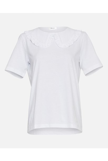 Mo Alva Collar Tee White