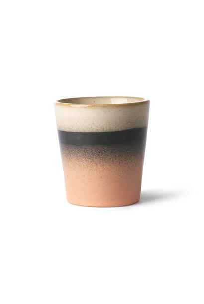ceramic 70's mug: tornado