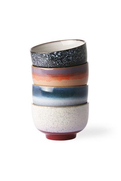 ceramic 70's noodle bowls set of 4