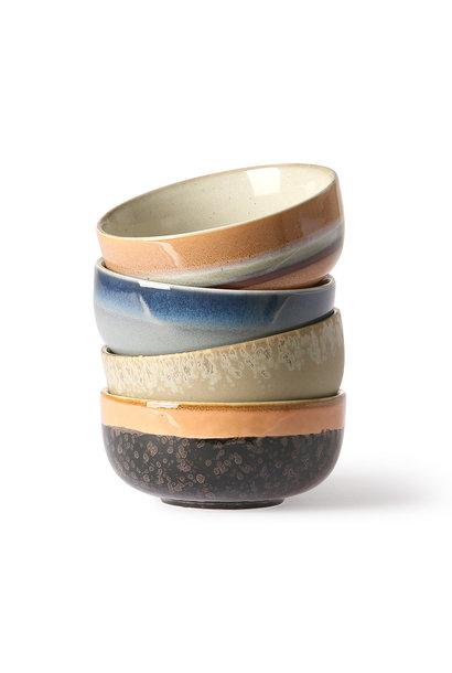 ceramic 70's tapas bowls set of 4