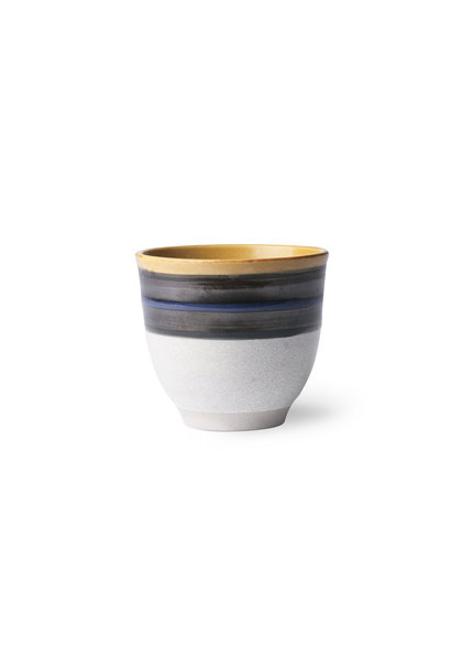 Blue striped mug