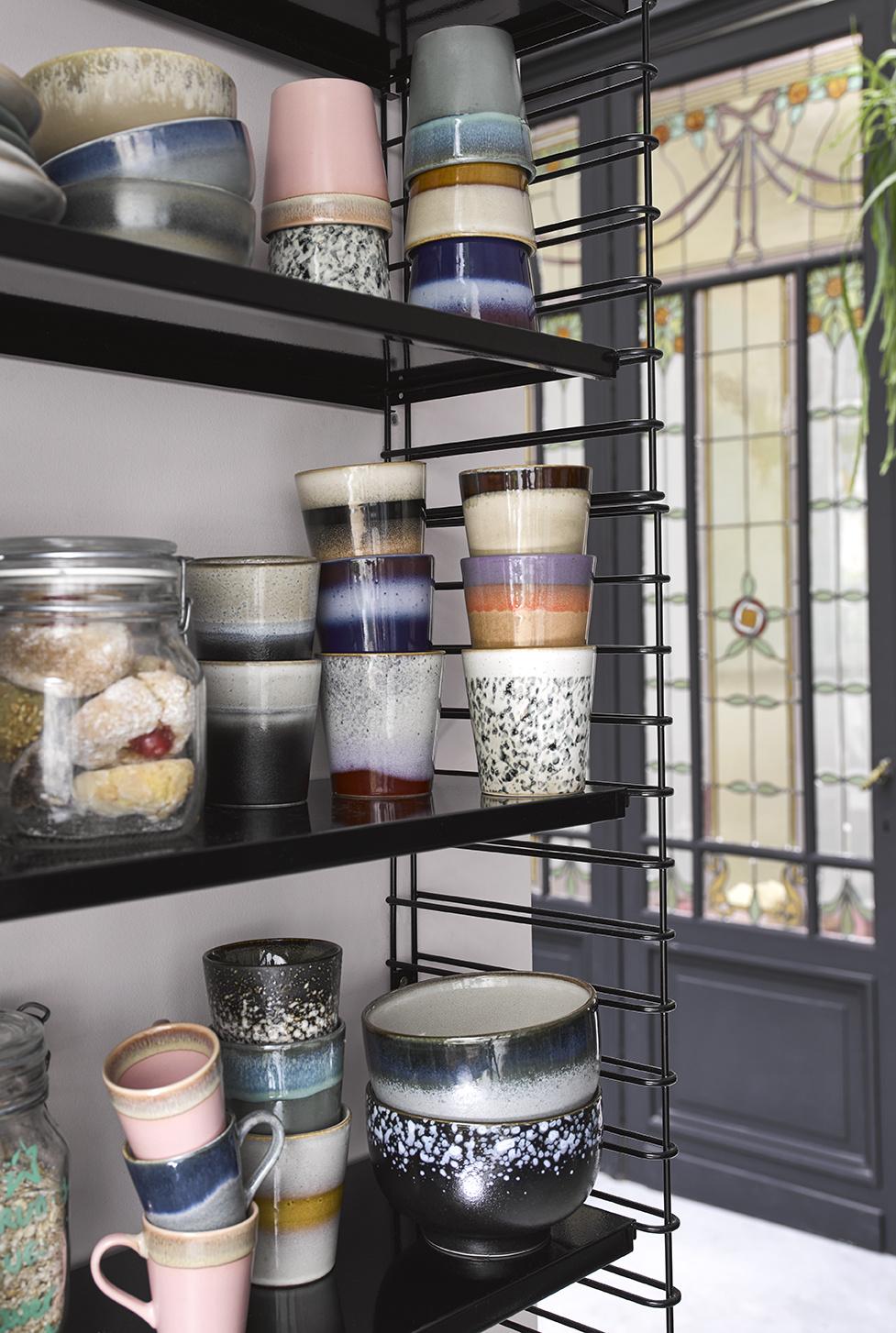Ceramic 70's espresso mugs set of 4-3