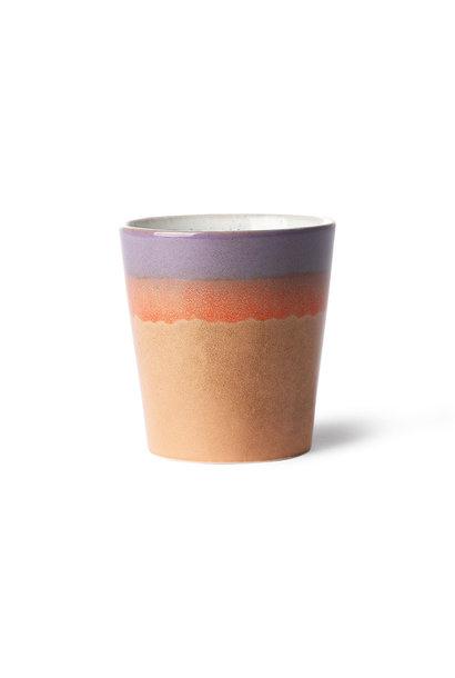 ceramic 70's mug: sunset